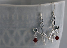 Load image into Gallery viewer, Sterling Silver Scissor Earrings