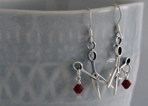 Sterling Silver Scissor Earrings