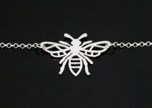 Load image into Gallery viewer, Bee Necklace in Sterling Silver