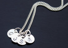 Load image into Gallery viewer, Personalized Initial Tag Necklace