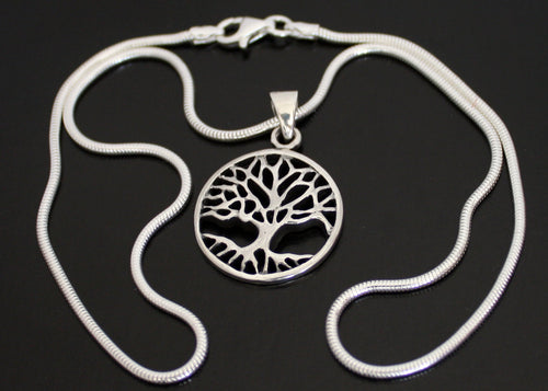 Tree of Life Necklace in Solid Silver