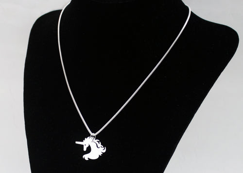 Unicorn Necklace in Sterling Silver