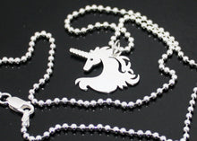 Load image into Gallery viewer, Silver Unicorn Necklace