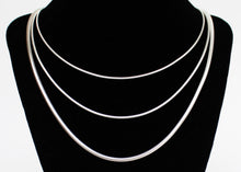 Load image into Gallery viewer, Sterling Silver Snake Chain Necklace