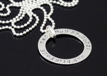 Load image into Gallery viewer, Longitude Latitude Necklace Sterling Silver