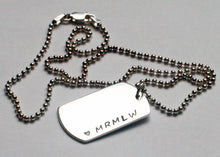 Load image into Gallery viewer, Sterling Silver Dog Tag Necklace