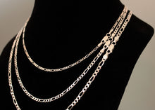 Load image into Gallery viewer, Sterling Silver Figaro Chain