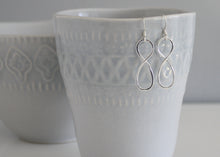 Load image into Gallery viewer, Infinity Symbol Earrings Sterling Silver