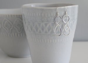 Infinity Symbol Earrings Sterling Silver