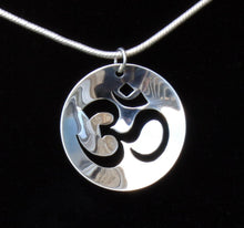 Load image into Gallery viewer, OM necklace Sterling Silver