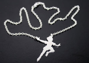 Peter Pan Pendant in Sterling Silver