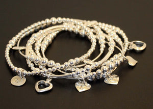 Sterling Silver Layered Stacking Bracelets