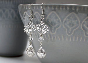 Seed of Life Earring in Sterling Silver