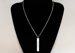 Roman Numeral Personalized Dog Tag Necklace (Two Sided) in Sterling Silver