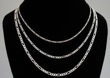 Load image into Gallery viewer, Mens Figaro Chain Sterling Silver