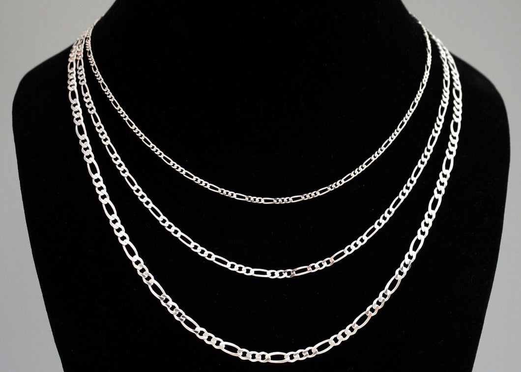 Mens Figaro Chain Sterling Silver