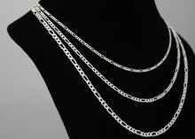 Load image into Gallery viewer, Sterling Silver Figaro Chain Womens Necklace