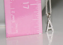Load image into Gallery viewer, Cubic Zirconia Initial Necklace