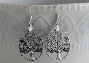 Tree of Life earrings Sterling Silver