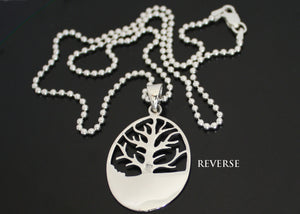 Tree of Life Necklace Personalized Solid Silver