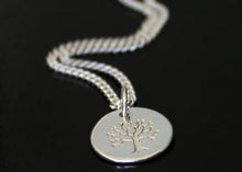 Load image into Gallery viewer, Sterling Silver Tree of Life necklace with Birthstone