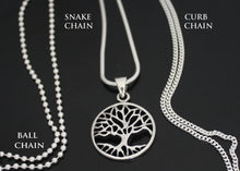 Load image into Gallery viewer, Tree of Life with Ball, Curb and Snake Chain
