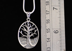 Solid Silver Tree of Life Necklace