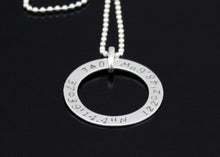 Load image into Gallery viewer, Circular Coordinates Necklace Sterling Silver