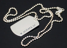 Load image into Gallery viewer, Mens Dog Tag Necklace