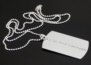 GPS Coordinates Sterling Silver Dog Tag