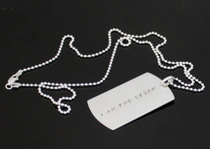 Personalized Dog Tag Necklace in Sterling Silver