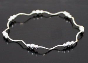 Layered Stacking Bracelet in Sterling Silver