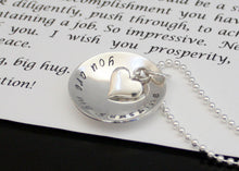 Load image into Gallery viewer, personalized heart necklace