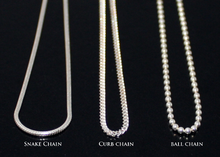 Load image into Gallery viewer, Ball Chain Necklace, Snake Chain Necklace, Curb Chain Necklace in Sterling Silver