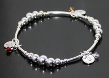 Load image into Gallery viewer, Silver Initial Bracelet