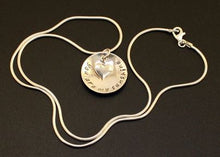 Load image into Gallery viewer, you are my sunshine necklace in sterling silver