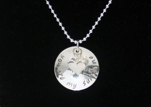 you are my sunshine necklace in sterling silver