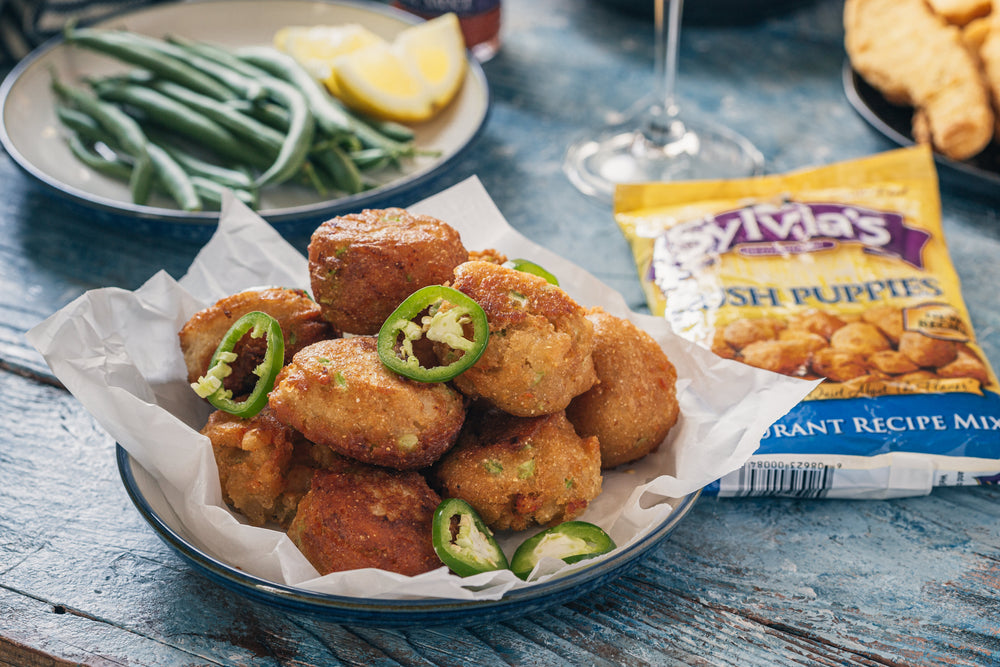Sylvia's Shrimp Hush Puppies