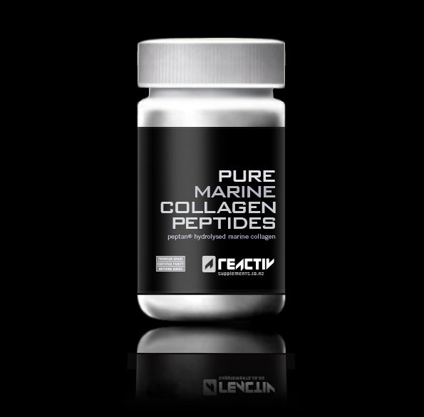 Pure Marine Collagen Peptides Hydrolysed Unflavoured Powder Reactiv Supplements New Zealand
