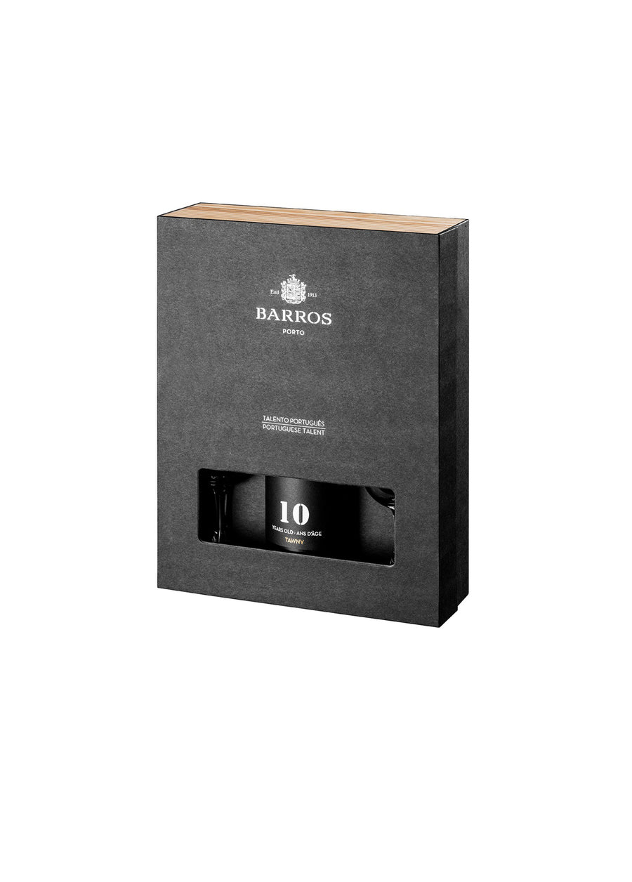 GIFT PACK BARROS 10Y TAWNY + 2 CÁLICES