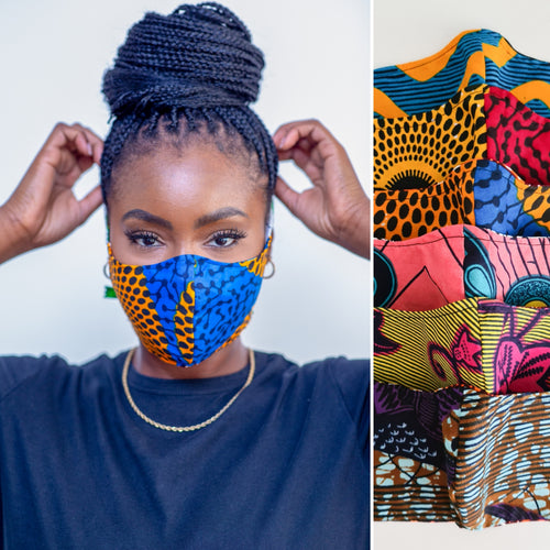 African Wax Print Face Mask