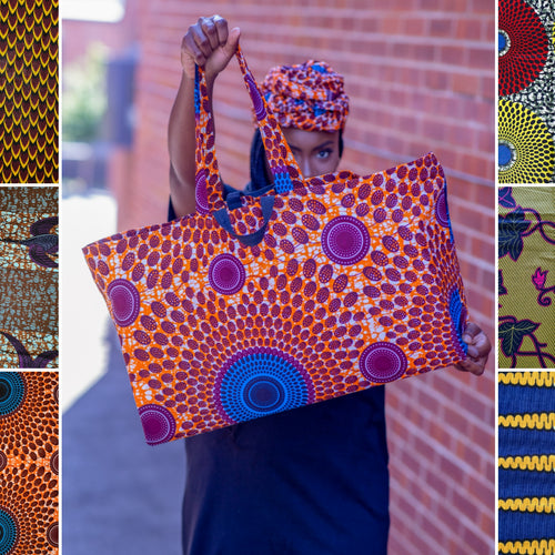 Extra Large African Wax Print Tote Bag | Choose Your Print