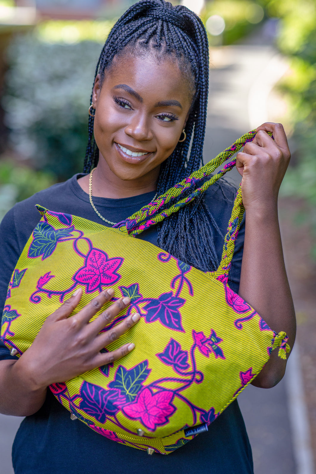 African Print Handbag with Braided Handles | Choose Your Print
