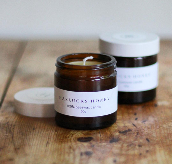Haslucks honey candles