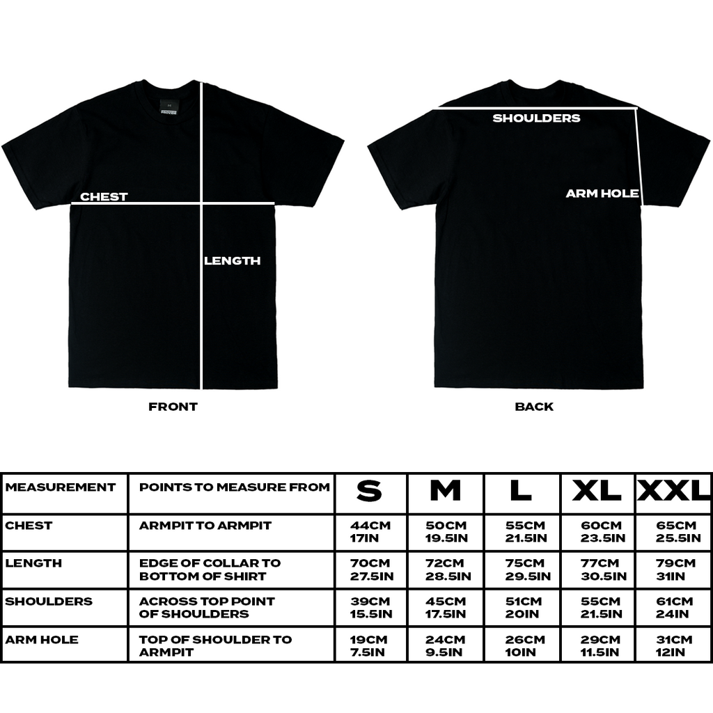 PROVIDE T-SHIRT SIZE GUIDE