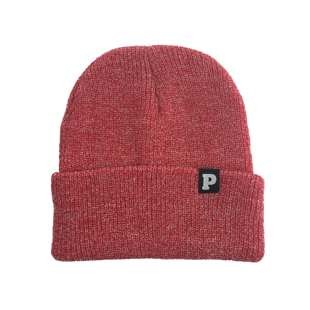 P Beanie (Red Heather)