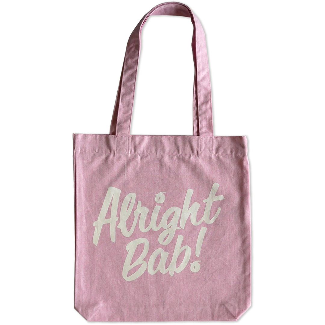 Alright Bab Tote Bag (Pink)