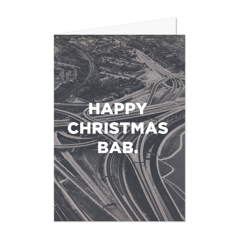 Bab Christmas Card