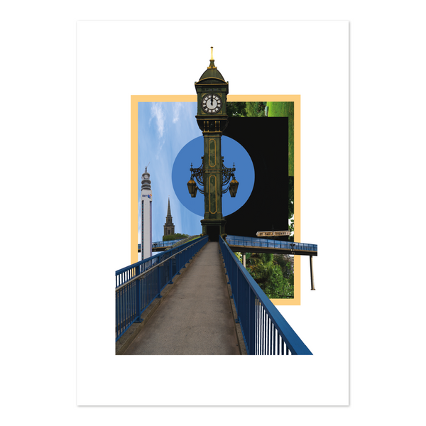 Explorer Collage Print - Jewellery Quarter