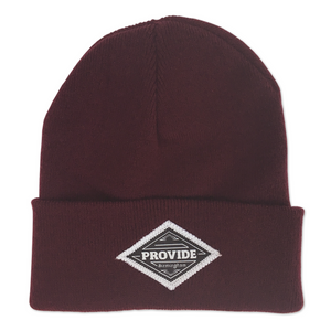 Diamond Beanie (Burgundy)